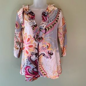 Electra Lang Spencer Tunic, Size 1
